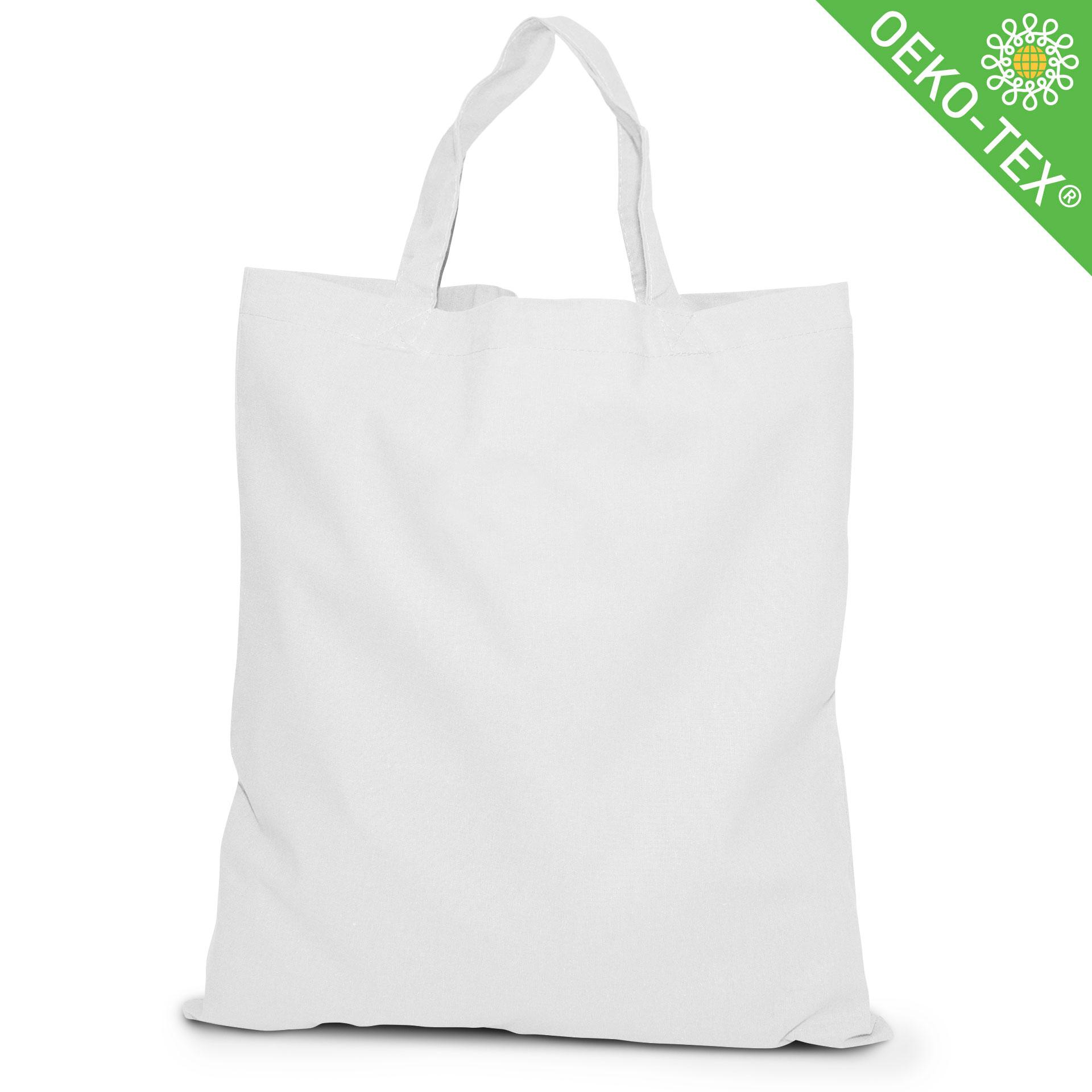 20 Kapstadt Baumwolltasche mit kurzen Henkeln, Farbe: weiß