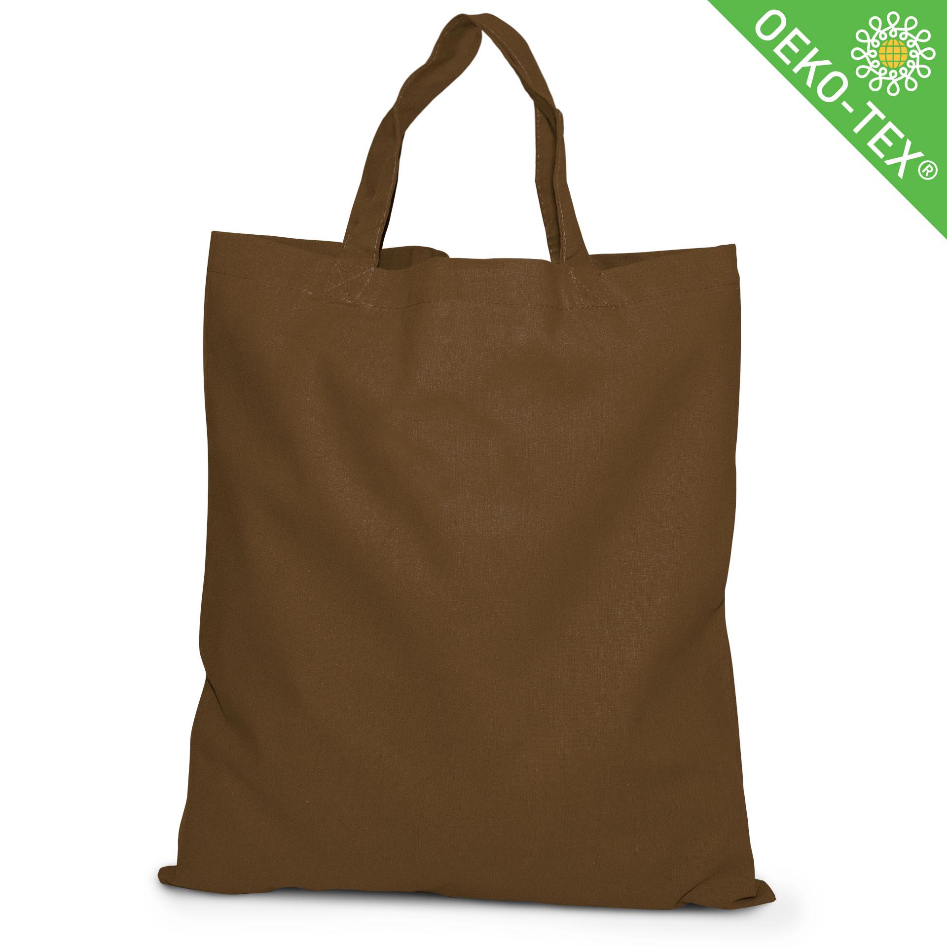 20 Kapstadt Baumwolltasche mit kurzen Henkeln, Farbe: braun