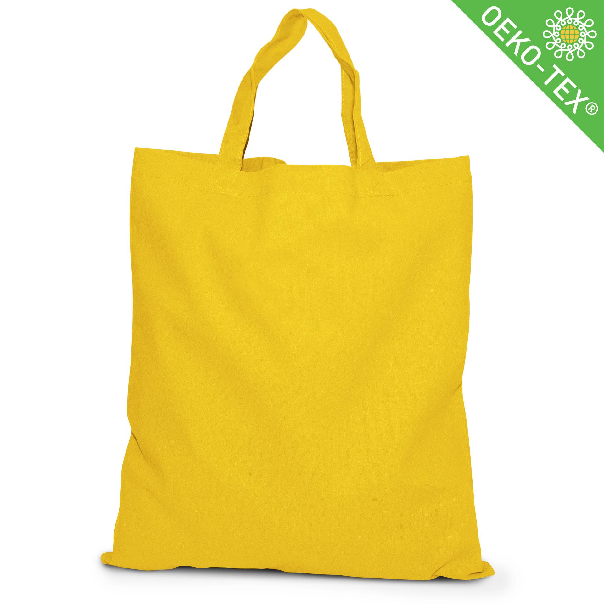 20 Kapstadt Baumwolltasche mit kurzen Henkeln, Farbe: gelb