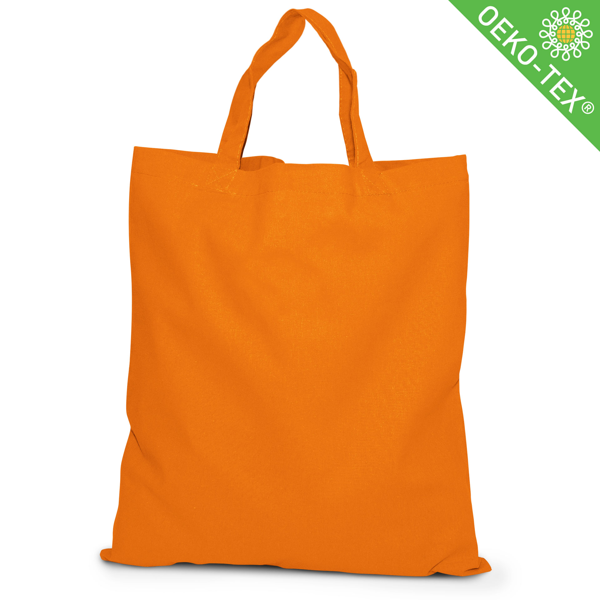 20 Kapstadt Baumwolltasche mit kurzen Henkeln, Farbe: orange