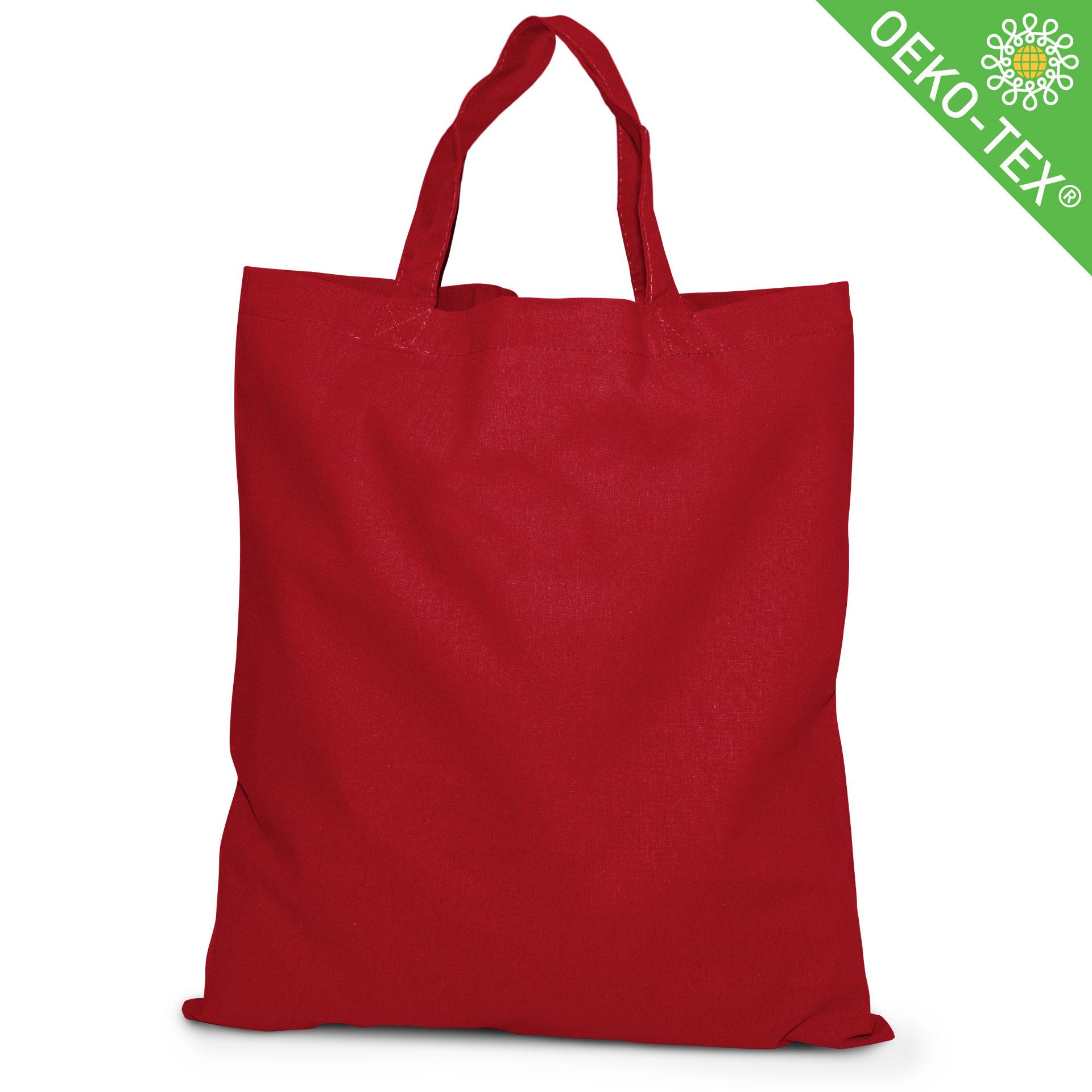 20 Kapstadt Baumwolltasche mit kurzen Henkeln, Farbe: rot