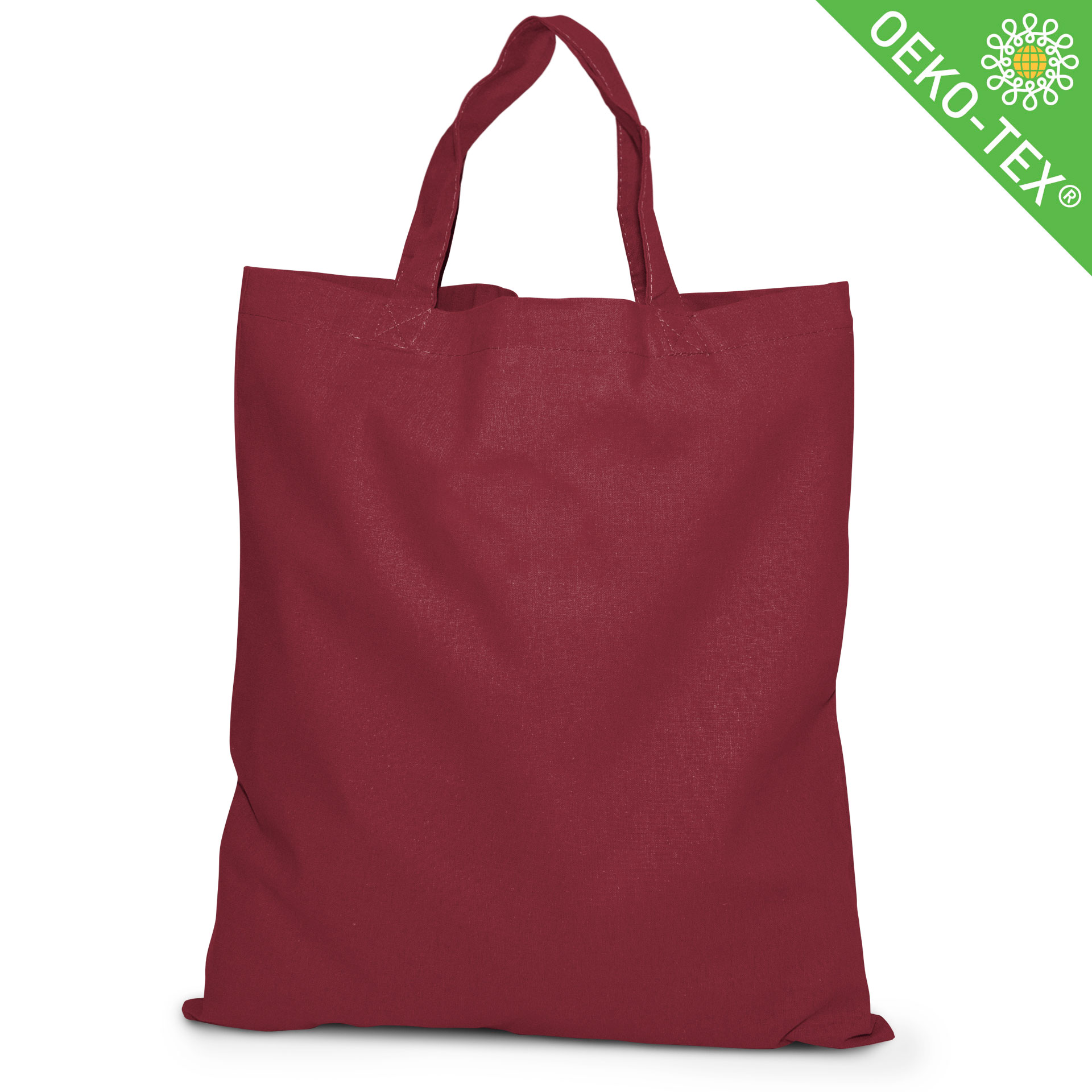 20 Kapstadt Baumwolltasche mit kurzen Henkeln, Farbe: bordeaux