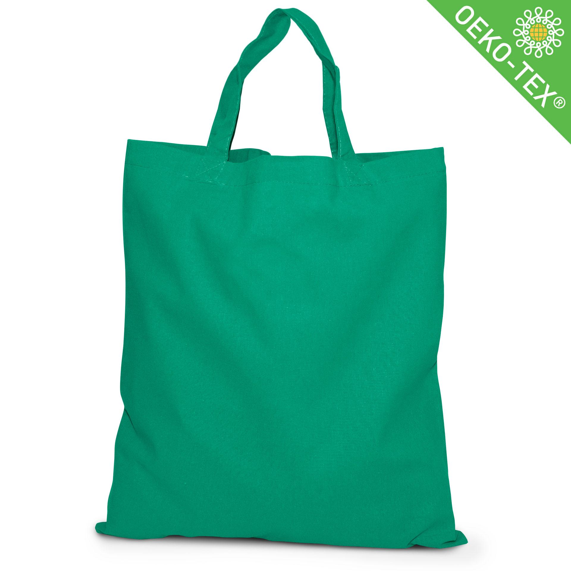 20 Kapstadt Baumwolltasche mit kurzen Henkeln, Farbe: grün