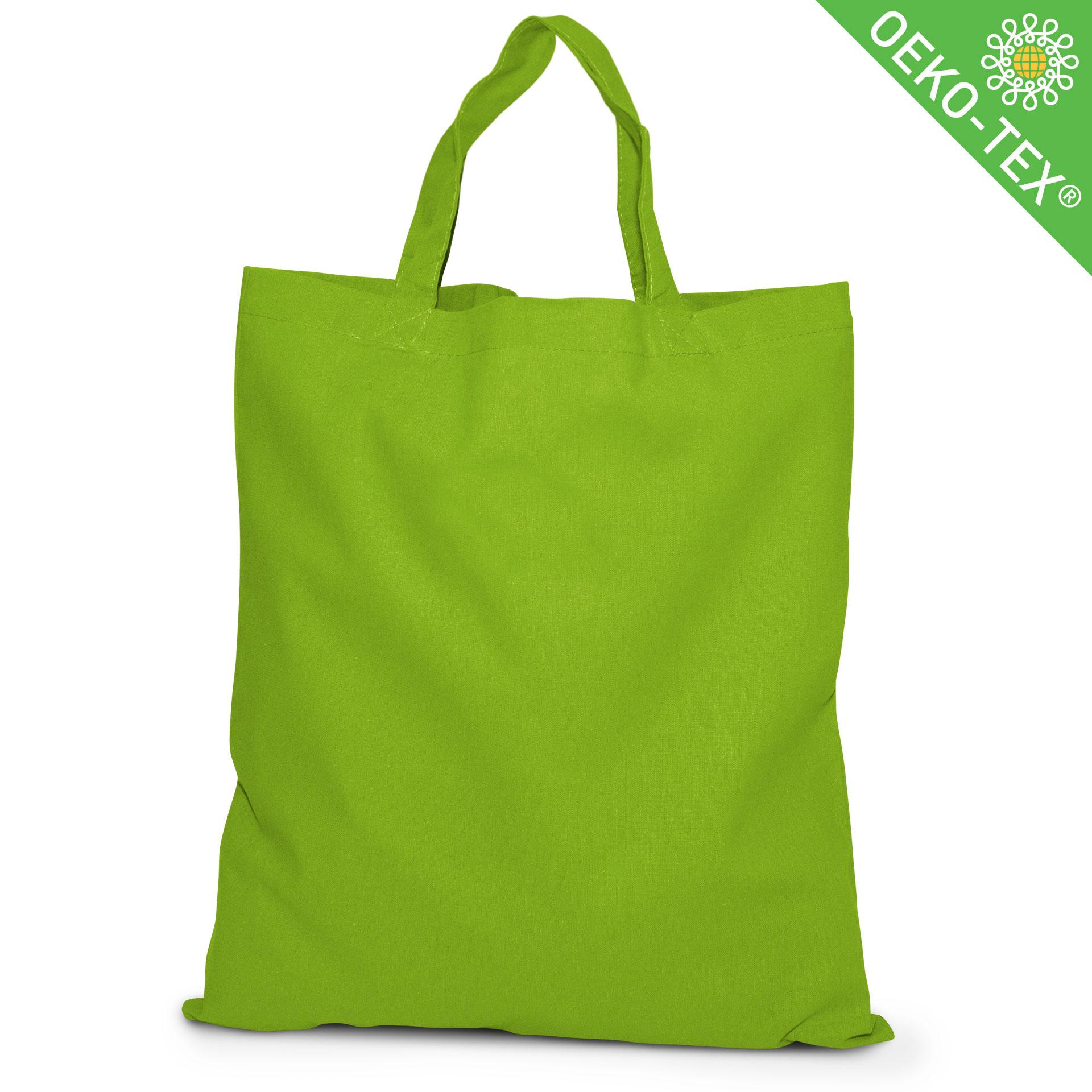 20 Kapstadt Baumwolltasche mit kurzen Henkeln, Farbe: hellgrün