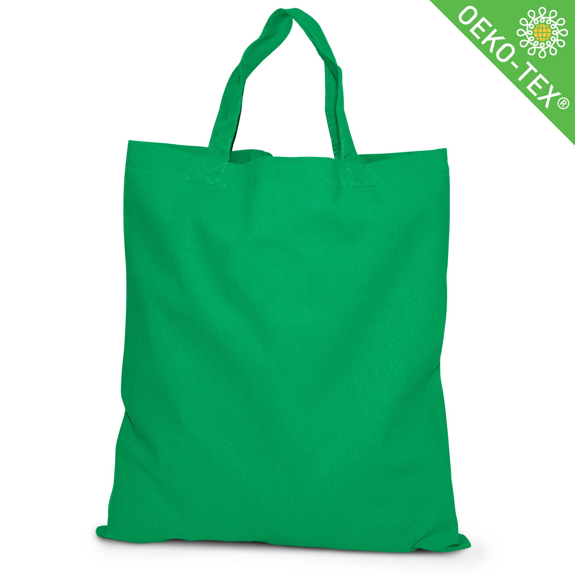 20 Kapstadt Baumwolltasche mit kurzen Henkeln, Farbe: grasgrün
