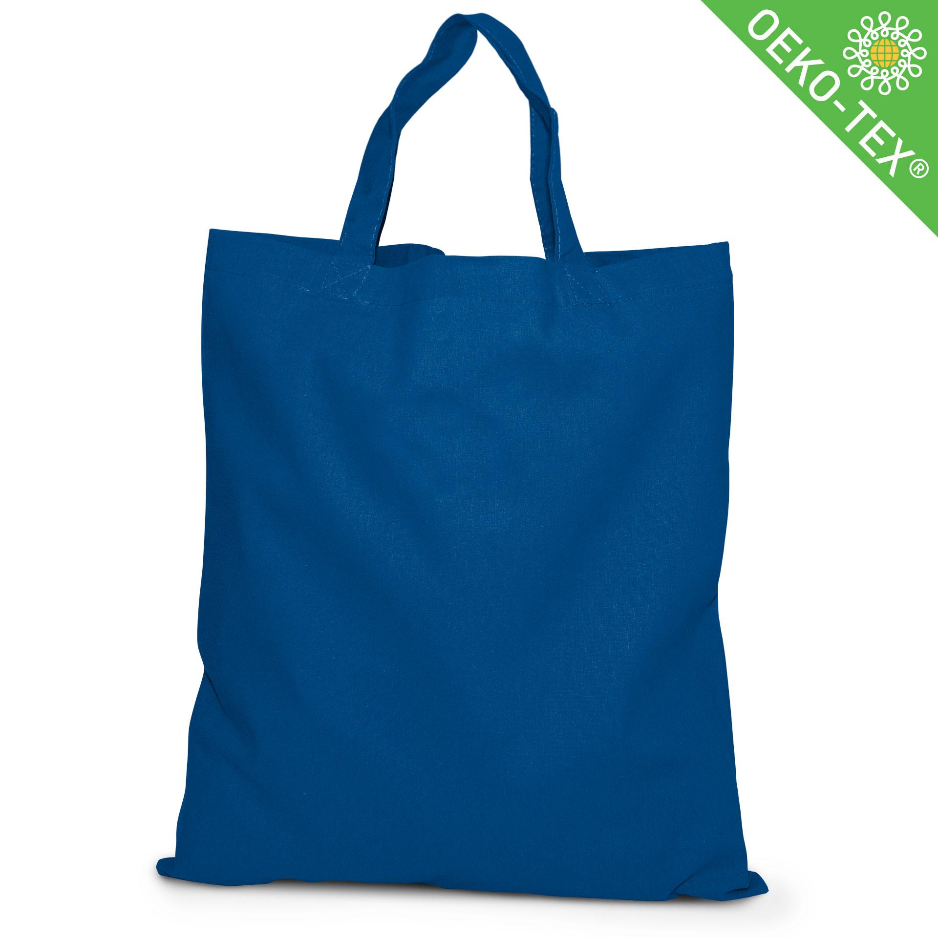 20 Kapstadt Baumwolltasche mit kurzen Henkeln, Farbe: royalblau