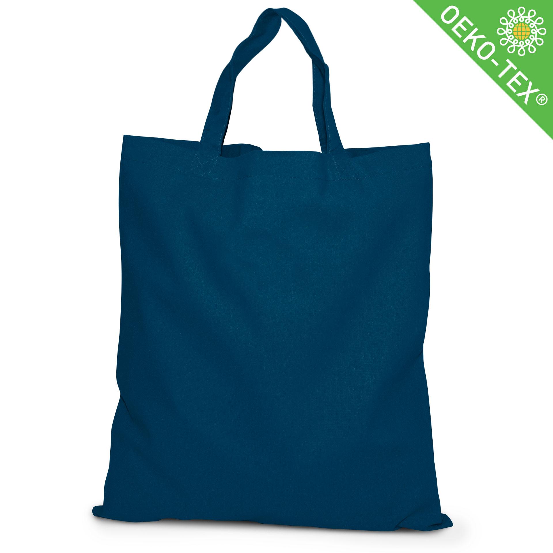 20 Kapstadt Baumwolltasche mit kurzen Henkeln, Farbe: marineblau