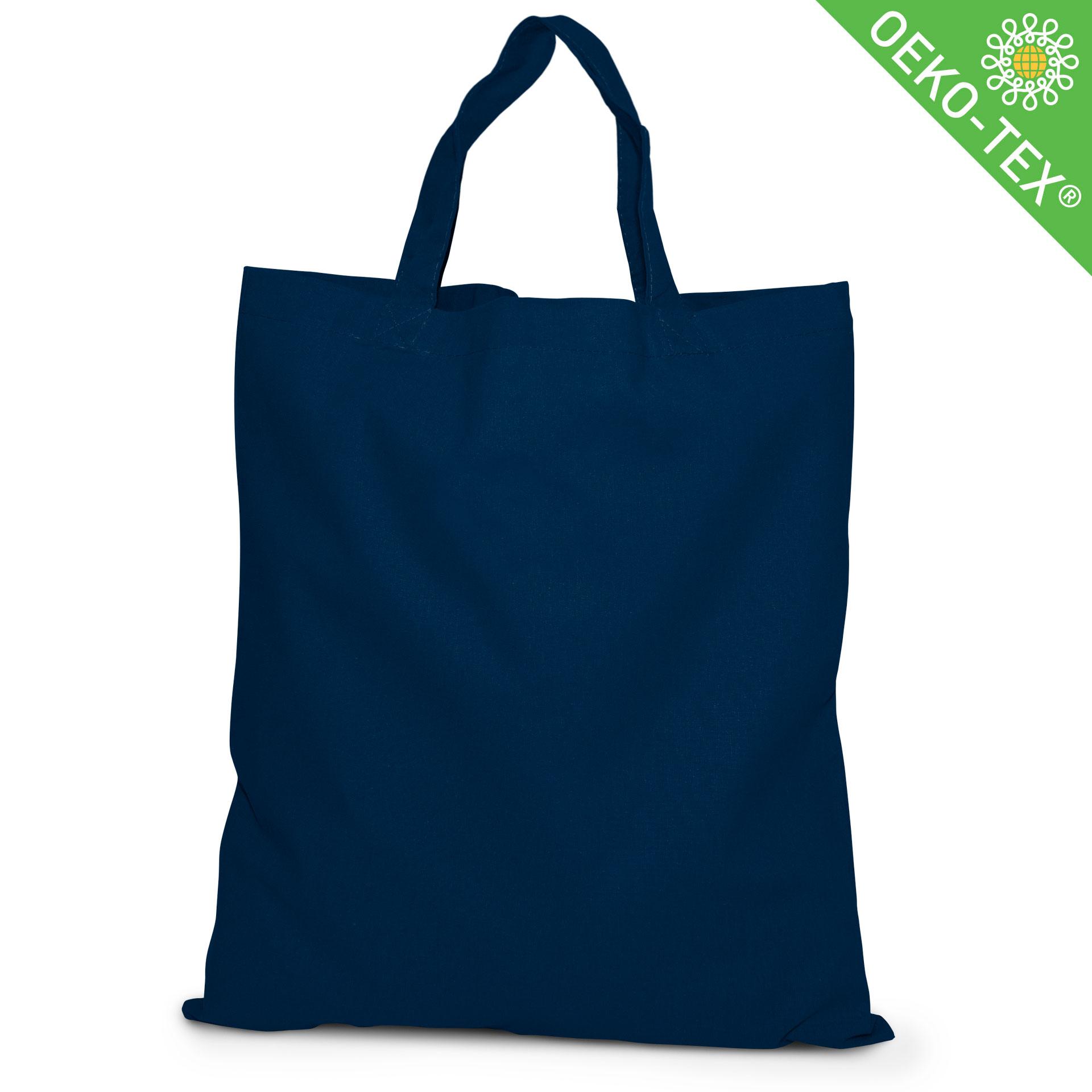 20 Kapstadt Baumwolltasche mit kurzen Henkeln, Farbe: nachtblau