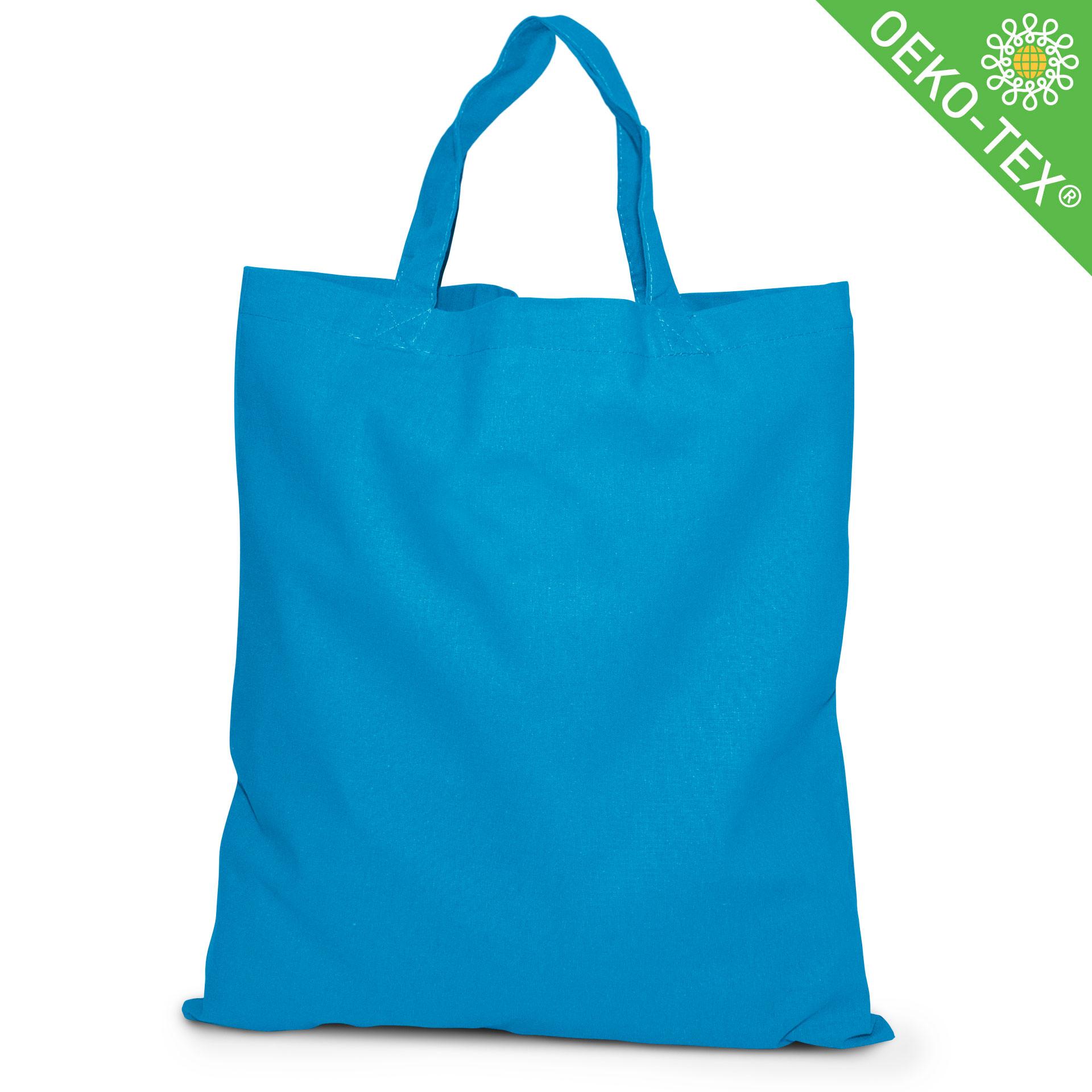 20 Kapstadt Baumwolltasche mit kurzen Henkeln, Farbe: cyanblau