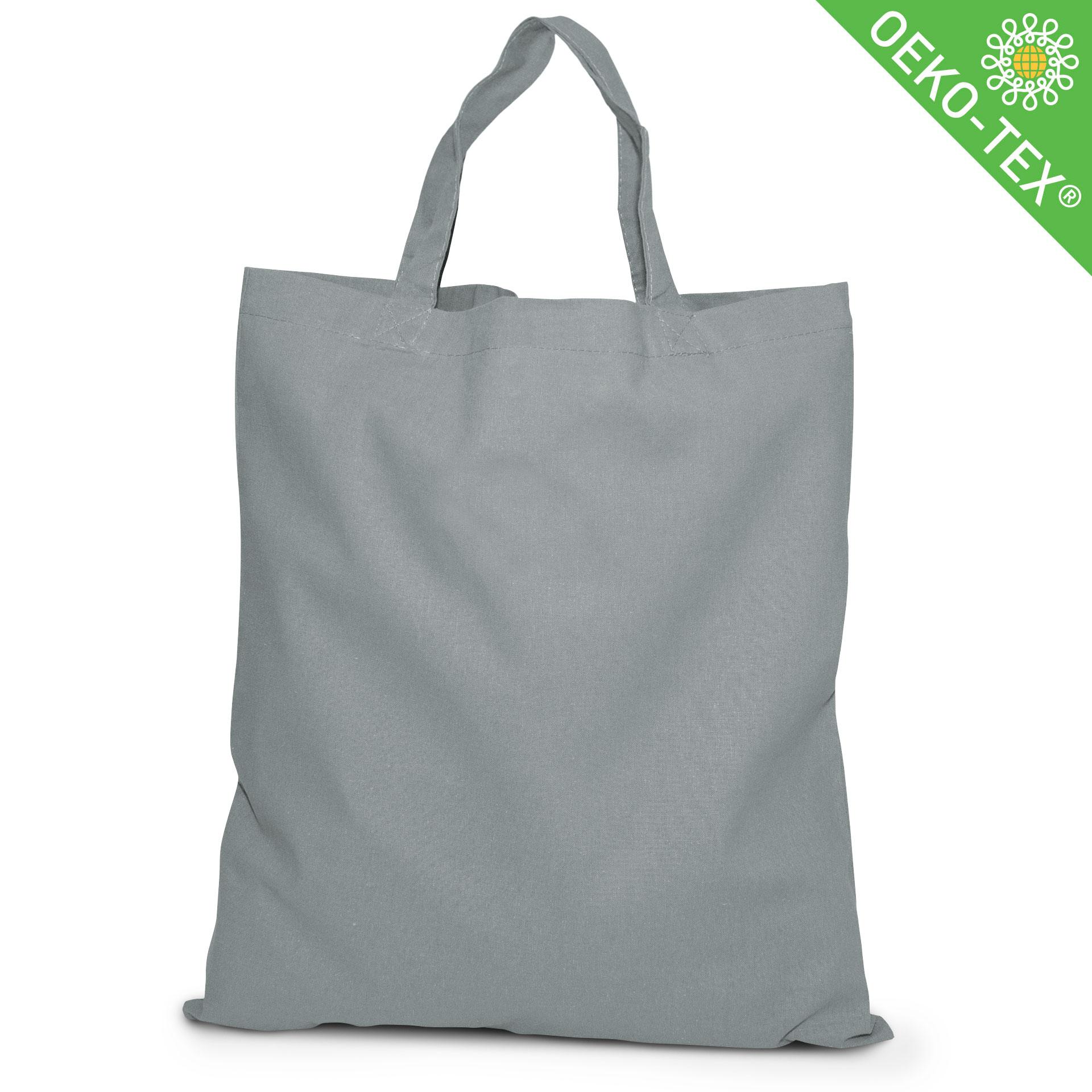20 Kapstadt Baumwolltasche mit kurzen Henkeln, Farbe: grau