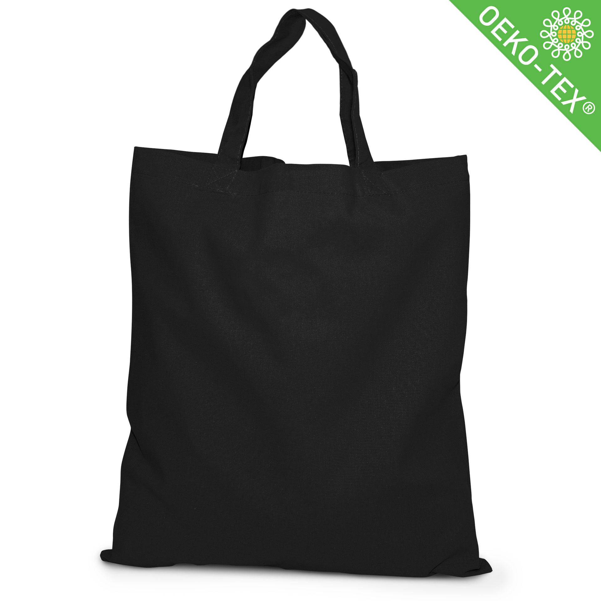 20 Kapstadt Baumwolltasche mit kurzen Henkeln, Farbe: schwarz