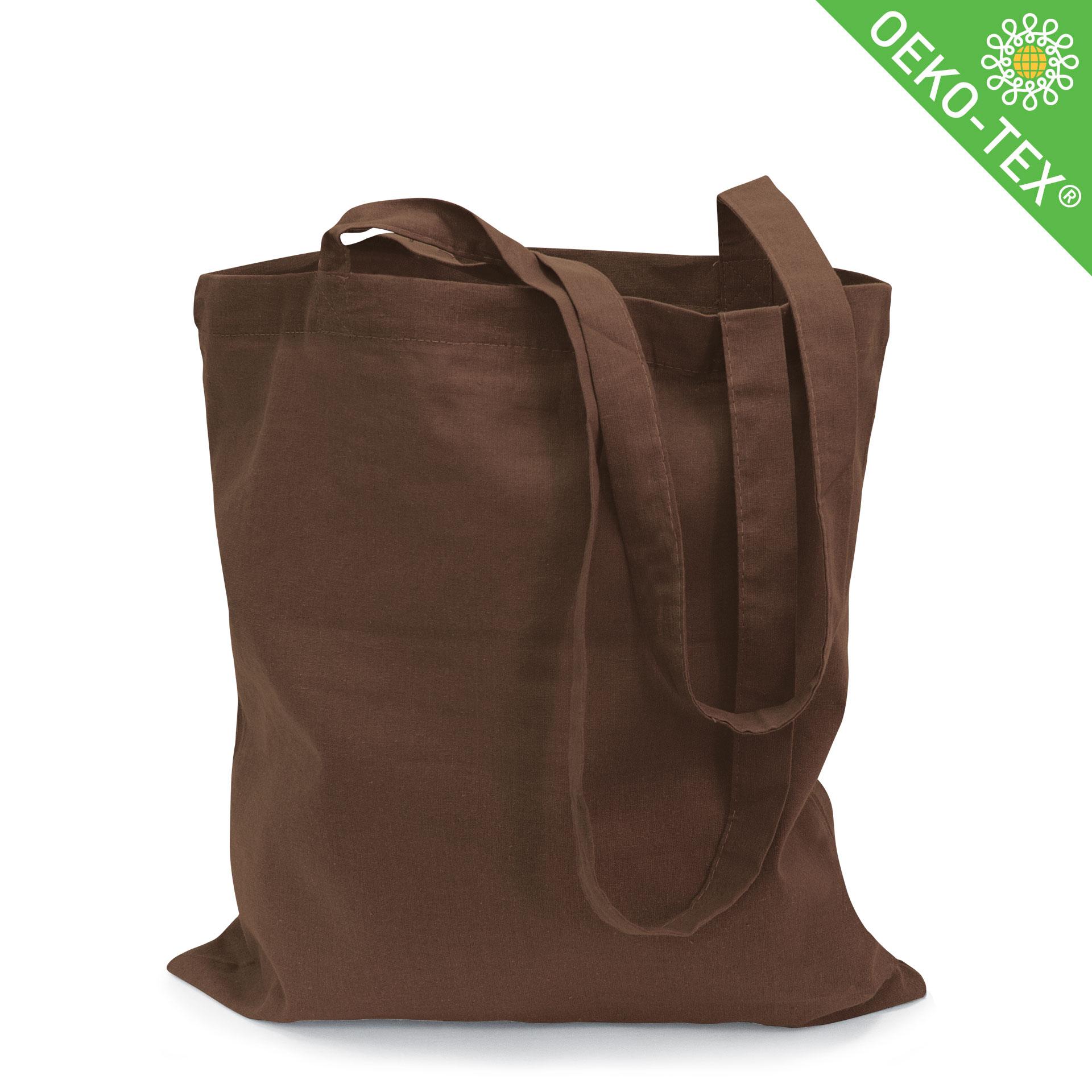 21-13_Riad,Baumwolltasche mit langen Henkeln, Farbe: braun