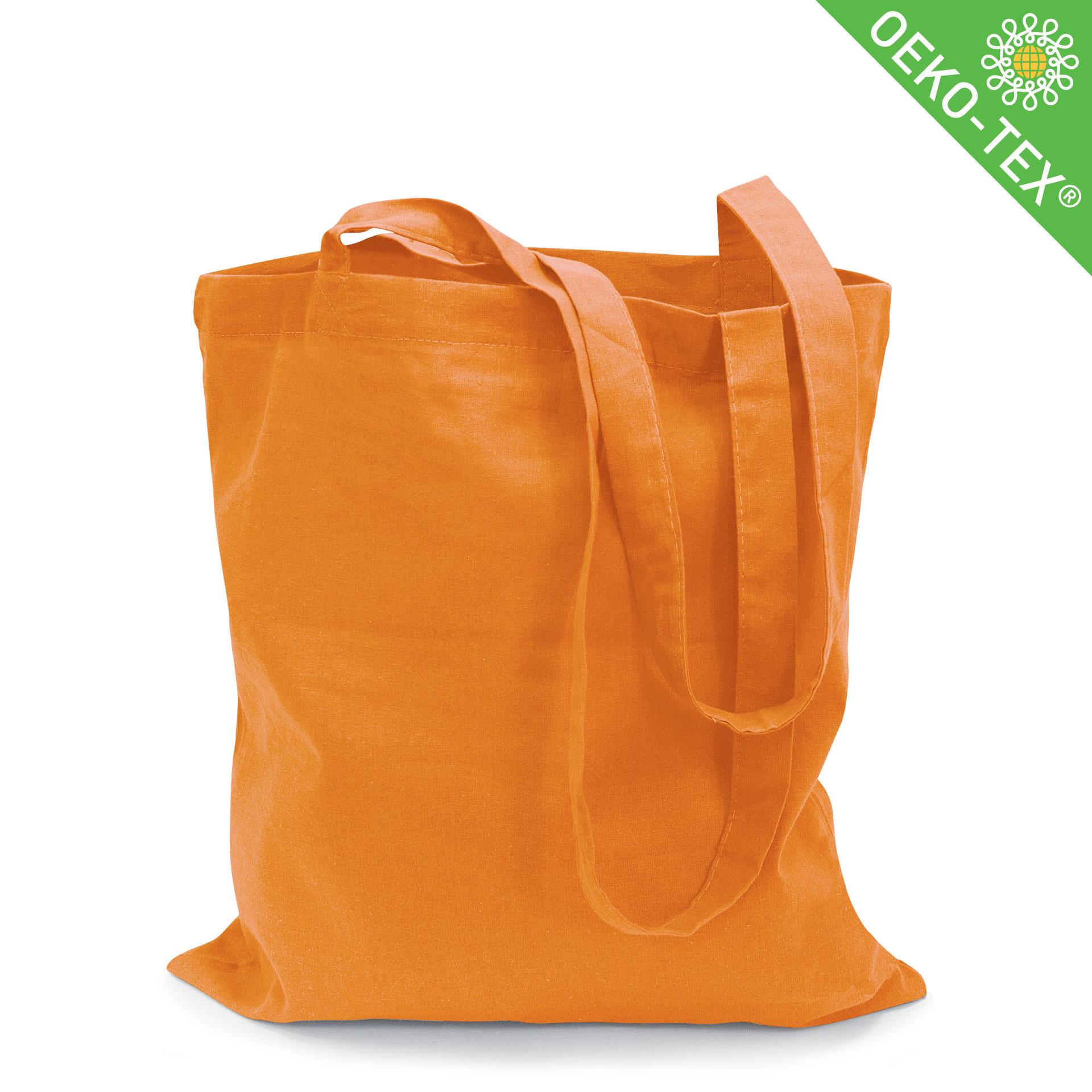 21-21_Riad,Baumwolltasche mit langen Henkeln, Farbe: Orange